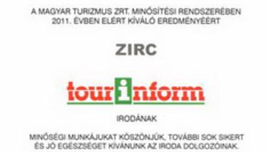 Kiváló minősítés a zirci tourinformnak