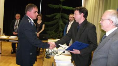 Simon Balázs az év rendőre Zircen