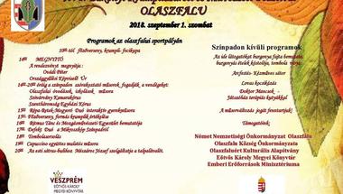 XVI. Bakonyi Krumpliszüreti és Művészeti Fesztivál - Olaszfalu, 2018. szeptember 1., szombat