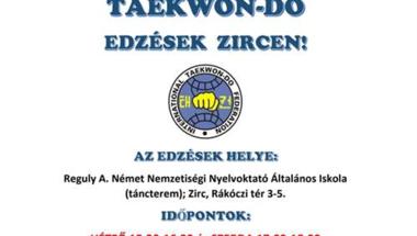 Taekwon-do edzések Zircen