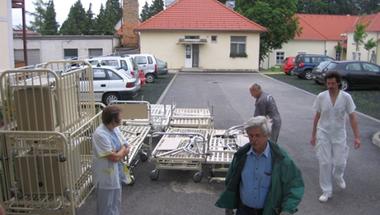 Kórházi ágyak Traunsteinből