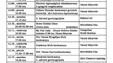 A Békefi Antal Városi Könyvtár, Művelődési Ház és Stúdió KB decemberi programajánlója