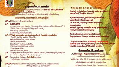 XI. Bakonyi Krumpliszüreti és Művészeti Fesztivál