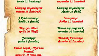 Dudar - rendezvények 2012