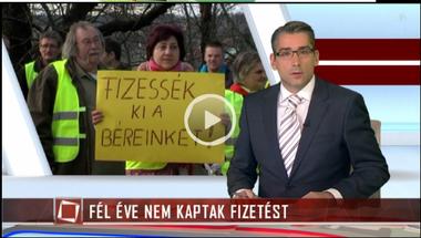 Zirci tüntetés a TV2 Tények műsorában