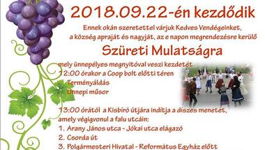 Szüreti mulatság Csetényben - 2018. szeptember 22., szombat