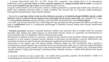 Óvodai beiratkozás - 2015/16