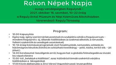 Rokon Népek Napja - Vendégségben Regulynál - 2021. október 16.