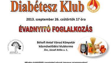 Szeptemberi Diabétesz klub