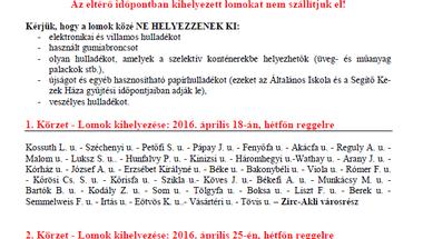 Lomtalanítás - 2016 - Zirc