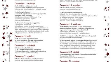 Adventi programsorozat - Mór, 2019.november 29. - december 22.
