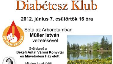 Diabétesz klub  2012. június 7. csütörtök 16 óra