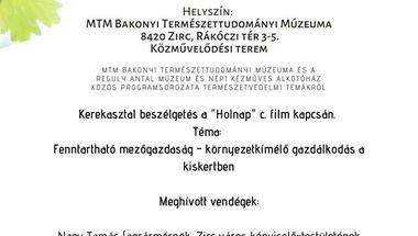"""Zirci Zöld - kerekasztal beszélgetés a """"Holnap"""" c. film kapcsán"""