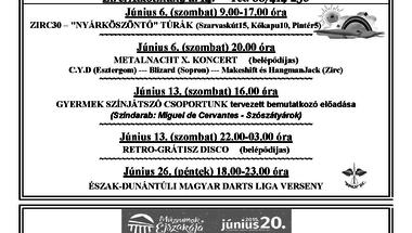 Békefi Antal Városi Könyvtár, Művelődési Ház és Stúdió KB júniusi programkínálata