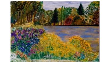 Moór Lajosné festménykiállítása a Városi Könyvtárban