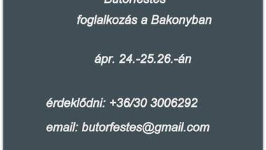 Bútorfestés foglalkozás a Bakonyban
