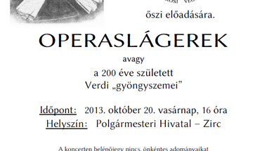 """Verdi """"gyöngyszemei"""" Zircen"""