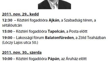 Schiffer András Zircen - Meghívó az LMP köztéri fogadóórájára
