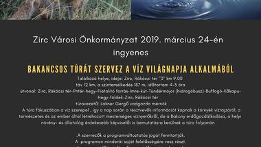 Bakancsos túra a víz világnapja alkalmából - 2019. március 24.