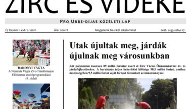 Zirc és Vidéke - 2018., Új évfolyam 1. évf. 1-3.szám