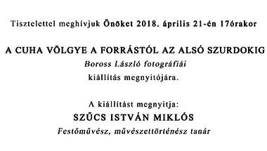 Kiállítás megnyitó - Boross László fotográfiái