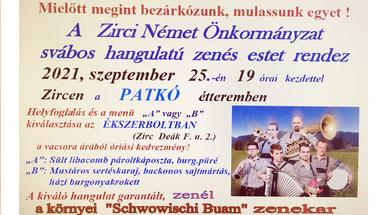 Sváb bál a Patkóban - 2021. szeptember 25., szombat