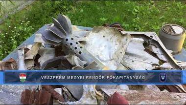 Robbanóanyagokat és robbantószereket gyűjtött egy eplényi férfi