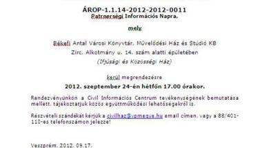 Civil Információs Nap Zirc 2012.09.24. (IKH)