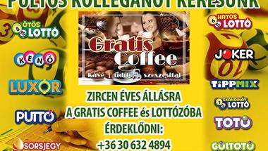 Kolléganőt keresnek - Gratis Coffe Zirc