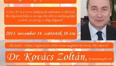 Beszélgetések a fehér asztalnál - Dr. Kovács Zoltán