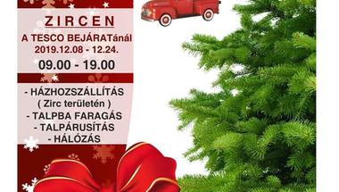 Darabáras fenyővásár - Zirc, 2019.12.08-tól