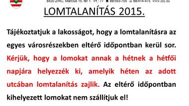 Lomtalanítás 2015