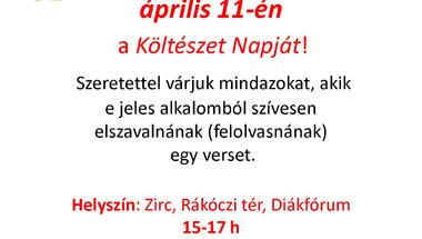 Magyar Költészet Napja - Versre fel!