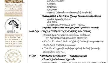 Bagolyvár Szüreti Napok Zircen részletes program