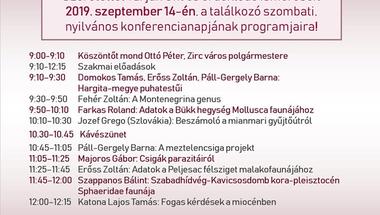 43. Magyar Malakológus Találkozó - Zirc, 2019. szeptember 13-15.