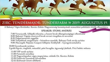 Bakonyi Vágta - 2019. augusztus 19., hétfő - Zirc-Tündérfarm