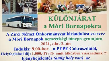 Különjárat a Móri Bornapokra - 2021.10.02.