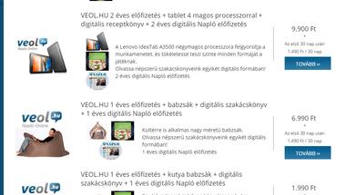 Fizetős lett a veol.hu