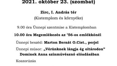 1956-ra emlékező városi ünnepség - 2021. október 23.