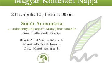 Magyar Költészet Napja - Sudár Annamária irodalmi estje