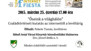 Internetes családkutatás lehetőségeit bemutató program a Városi Könyvtárban