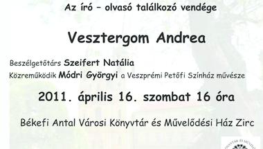 Költészet napja Vesztergom Andreával