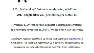 """""""KISKEREKES"""" FUTAMOK ÚJ IDŐPONTJA"""