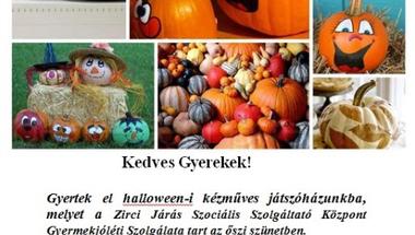 Halloween-i kézműves játszóház