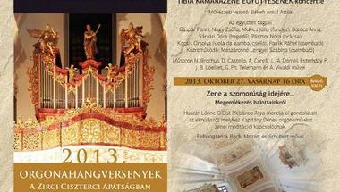 Orgonahangversenyek a Zirci Ciszterci Apátságban