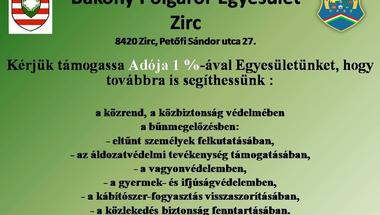 Bakony Polgárőr Egyesület Zirc adó 1%