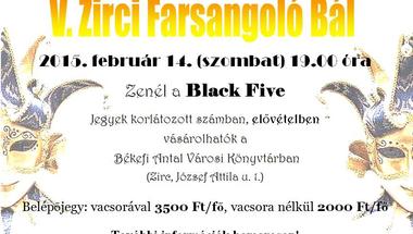 V. Zirci Farsangoló Bál