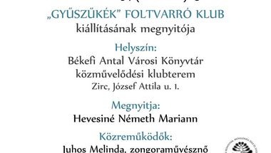 """""""Gyűszűkék"""" Foltvarró Klub kiállítása - 2018. november 29., csütörtök"""