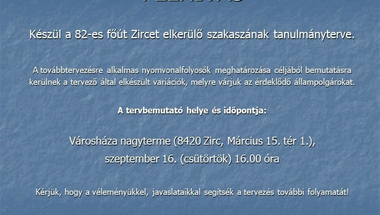 Ilyen lesz az elkerülő - Zirc, 2021. szeptember 16., csütörtök
