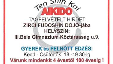 A Zirci Aikido csoport tagfelvételt hirdet